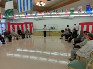 ハートランド三恵ミニ運動会開会式の様子